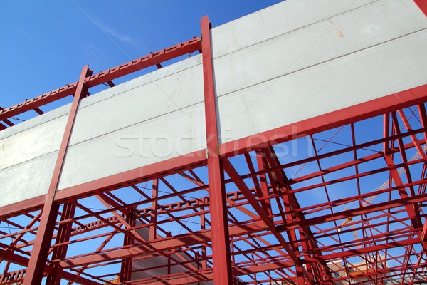 industrial building construction steel structure concrete Stock photo © lunamarina