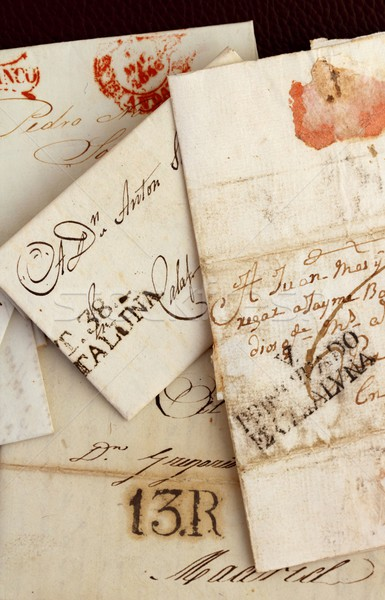 anonymous handwritten real old letters from Spain Stock photo © lunamarina