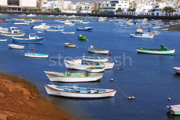 Arrecife in Lanzarote Charco de San Gines Stock photo © lunamarina