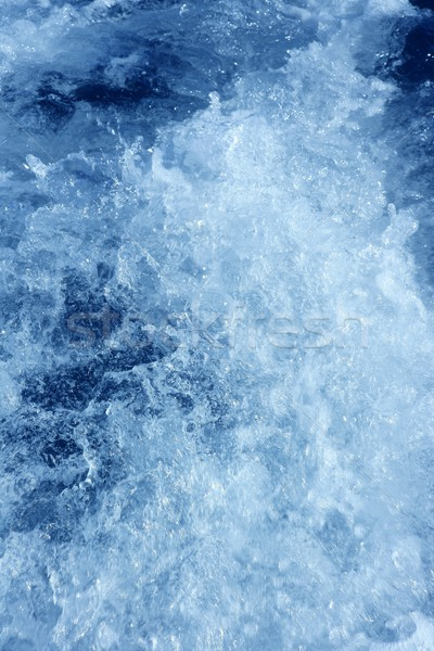 Stok fotoğraf: Tekne · köpük · su · pervane · mavi