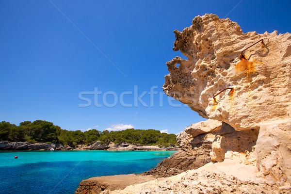 Menorca Cala en Turqueta Ciutadella Balearic Mediterranean Stock photo © lunamarina