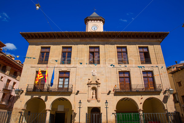 Mora de Rubielos Teruel Town Hall square Aragon Stock photo © lunamarina