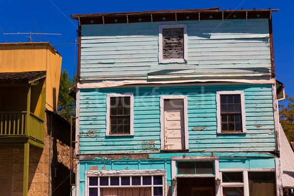Kalifornia angyalok tábor házak igazi öreg Stock fotó © lunamarina