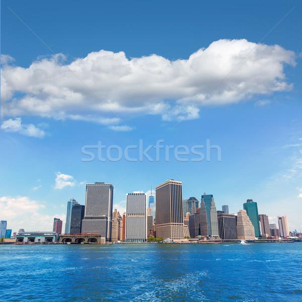 Manhattan New York skyline ny USA kantoor Stockfoto © lunamarina
