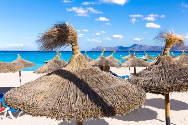 Stock photo: Mallorca Can Picafort beach in alcudia bay Majorca