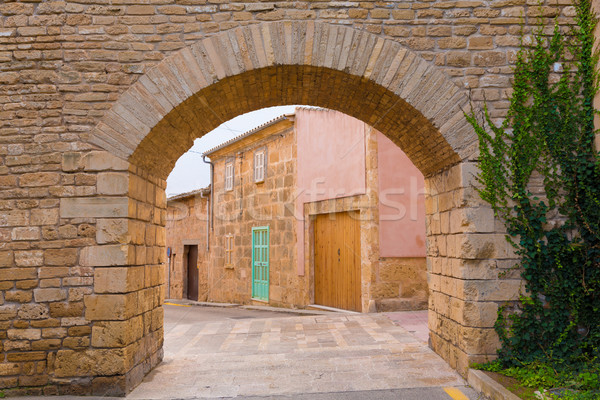 Alcudia Old Town fortress wall in Majorca Mallorca Stock photo © lunamarina