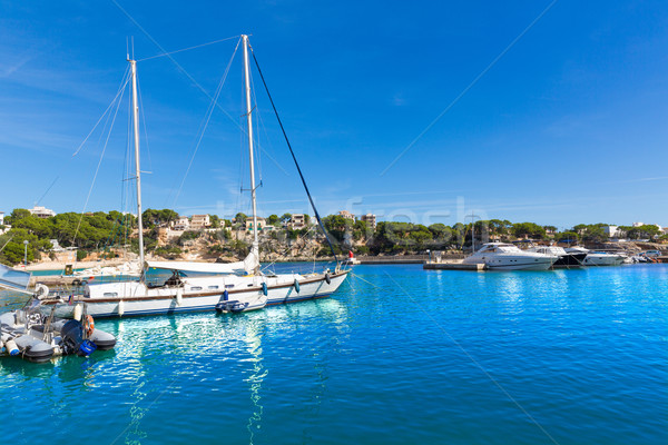 Marina kikötő Mallorca sziget Spanyolország víz Stock fotó © lunamarina