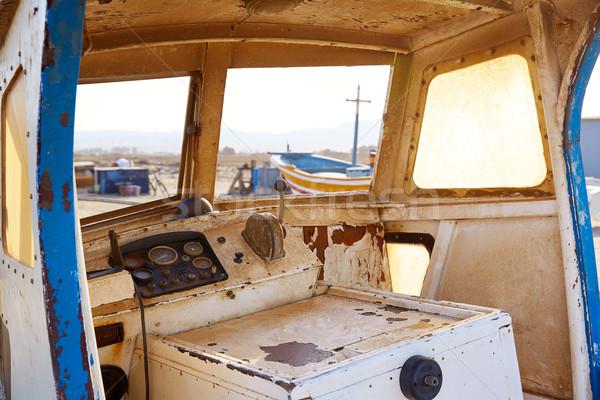 Almeria Cabo de Gata old boat indoor Spain Stock photo © lunamarina