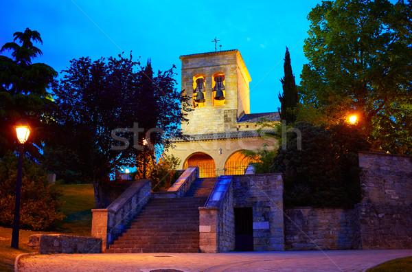 Way of Saint James church in Cizur Menor Spain Stock photo © lunamarina