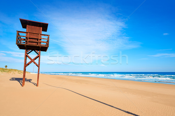 Playa mediterráneo Valencia mar España cielo Foto stock © lunamarina