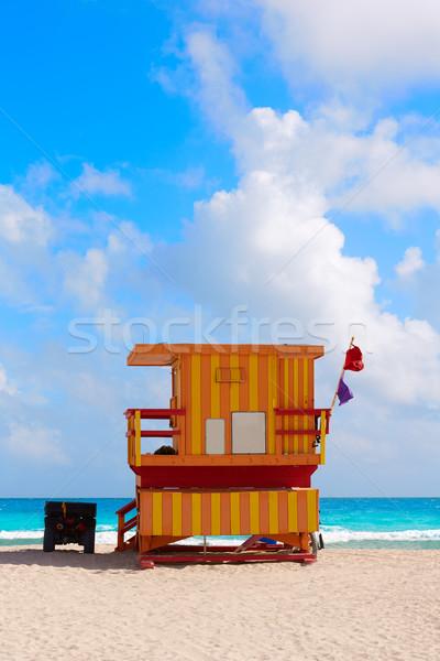 Miami plaży wieża południe Florida USA Zdjęcia stock © lunamarina