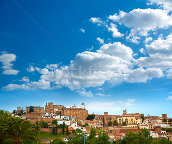 Caceres skyline in Extremadura of Spain Stock photo © lunamarina