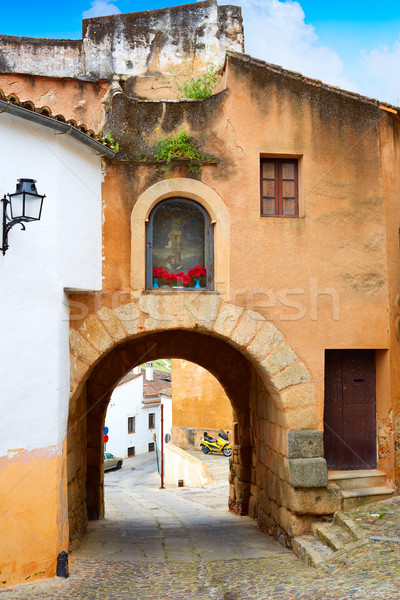 River door Arco del Cristo in Caceres of Spain Stock photo © lunamarina