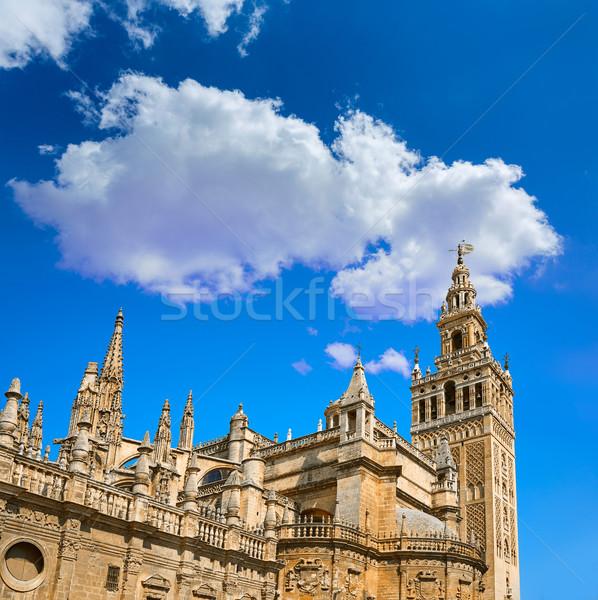 Seville cathedral Giralda tower of Sevilla Stock photo © lunamarina
