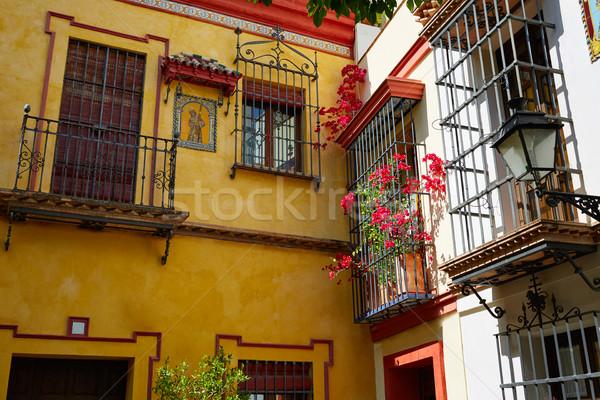 Sevilla old town near calle Agua Vida st Spain Stock photo © lunamarina