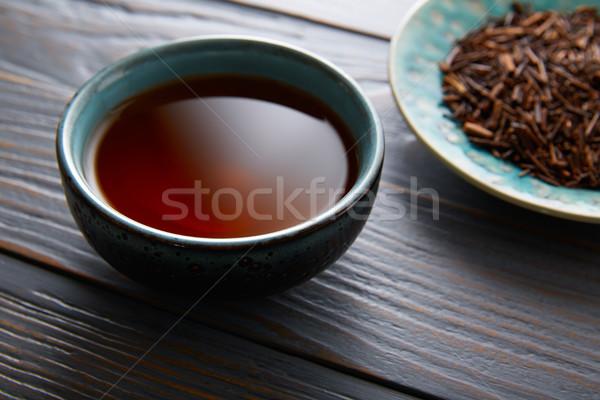 茶 務め ボウル 木製のテーブル ボード 木材 ストックフォト © lunamarina