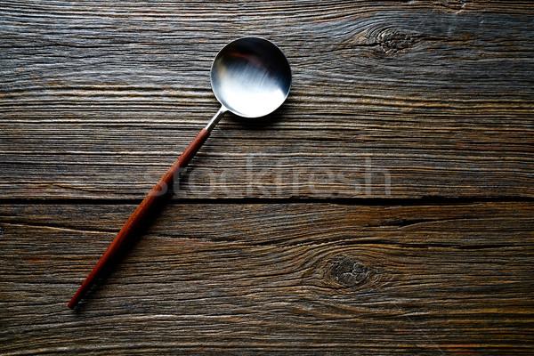Kuchnia narzędzia sprzęt kuchenny drewna tekstury Zdjęcia stock © lunamarina