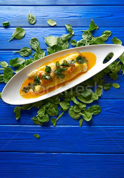 Rántotta garnélák baba étel háttér konyha Stock fotó © lunamarina