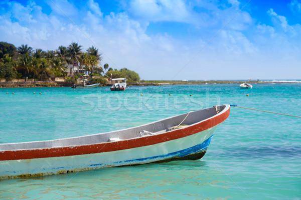 Akumal Caribbean beach in Riviera Maya Stock photo © lunamarina