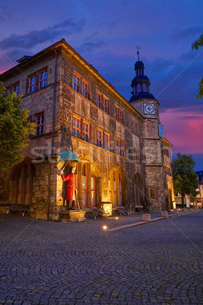 Рисунок Германия закат город зале горные Сток-фото © lunamarina