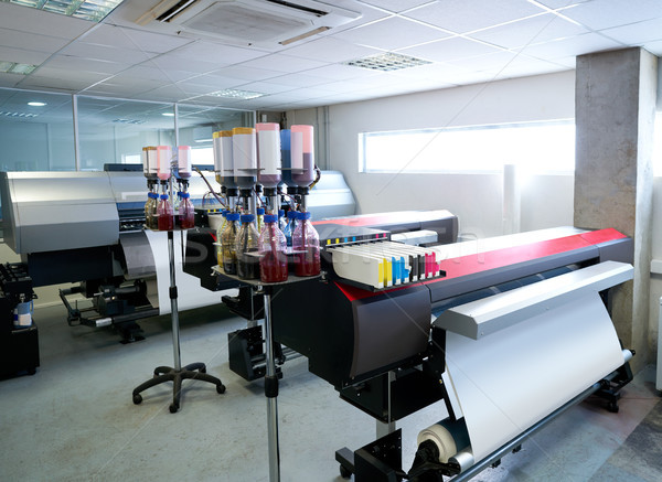 printing industry transfer paper printer for textile Stock photo © lunamarina