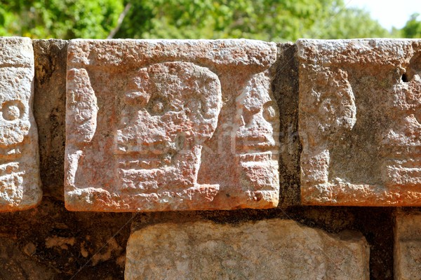 Chichen Itza Tzompantli the Wall of Skulls Stock photo © lunamarina