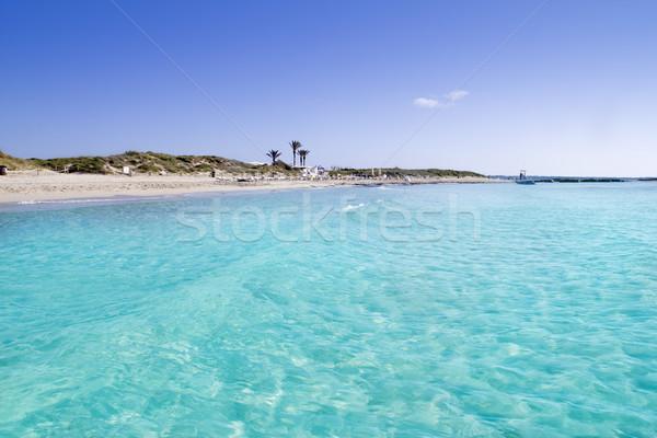 Illetas illetes turquoise beach shore Formentera Stock photo © lunamarina