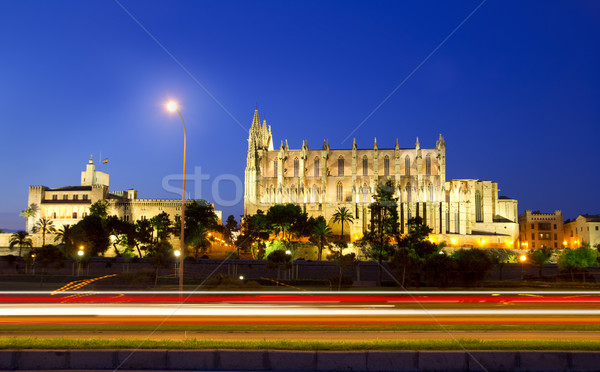 Cathedral of Majorca in Palma de Mallorca Balearic islands Stock photo © lunamarina