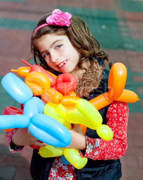 balloon twisting art children happy Stock photo © lunamarina