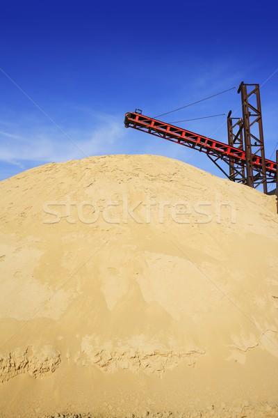 Foto stock: Construção · areia · estoque · montanha · maquinaria · instalação