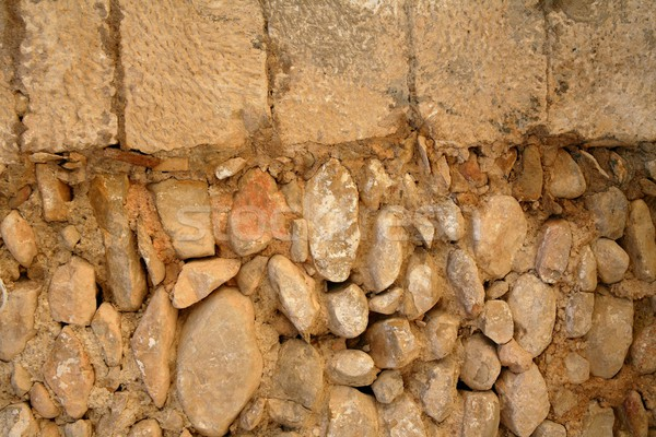 Złoty kamieniarstwo mur stary budynek ściany streszczenie Zdjęcia stock © lunamarina