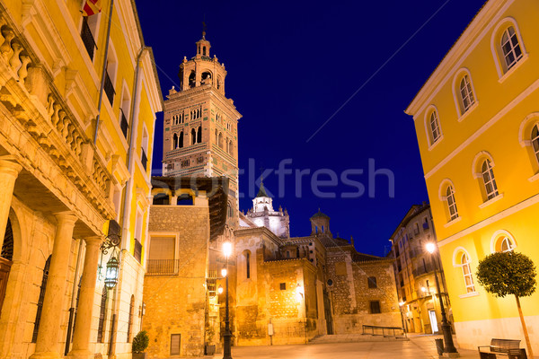 Aragon Teruel Cathedral Santa Maria unesco and City hall  Stock photo © lunamarina