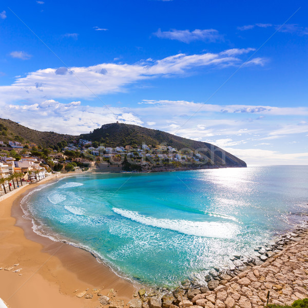 Moraira playa el Portet beach in Mediterranean Alicante Stock photo © lunamarina