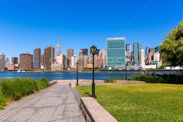 Manhattan New York sunny skyline East River NYC Stock photo © lunamarina