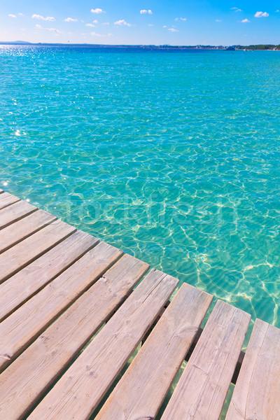 Praia pier mallorca Espanha água Foto stock © lunamarina