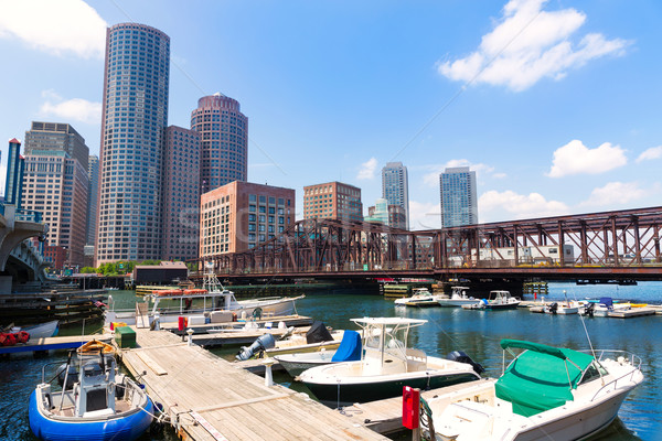 Stock photo: Boston Massachusetts skyline from Fan Pier
