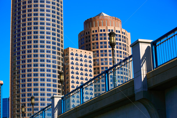 Boston Seaport boulevard bridge Massachusetts Stock photo © lunamarina