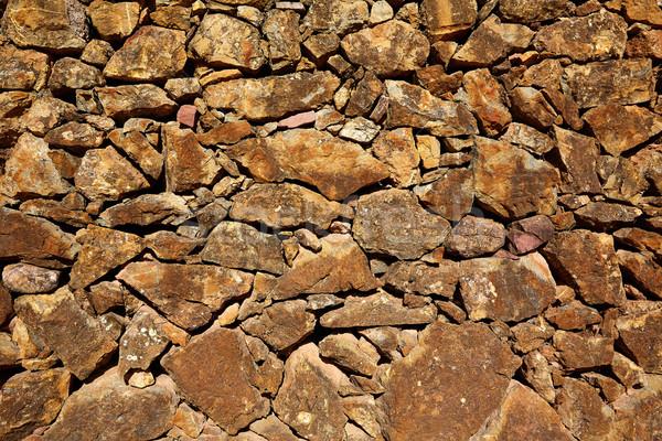 Kamieniarstwo ściany wapień tekstury Hiszpania wiosną Zdjęcia stock © lunamarina