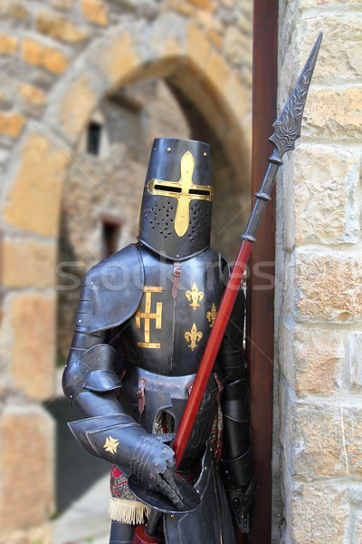 Medieval warrior soldier metal protective wear Stock photo © lunamarina