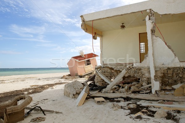 Cancun maisons ouragan tempête Caraïbes crash Photo stock © lunamarina