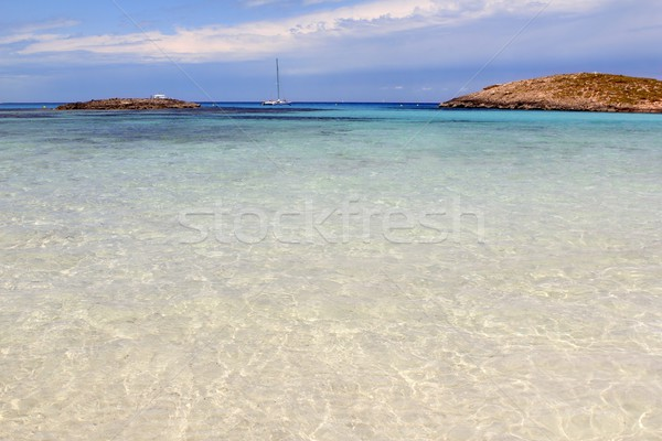 Illetes beach islands Formentera Balearic island Stock photo © lunamarina