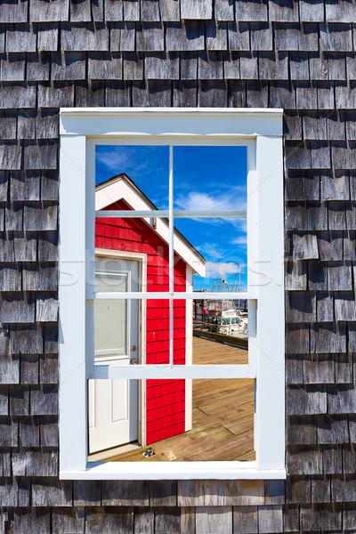 Кейп-Код окна Массачусетс США пляж стены Сток-фото © lunamarina