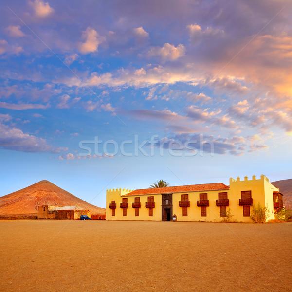 ラ カナリア諸島 スペイン 建物 山 島 ストックフォト © lunamarina