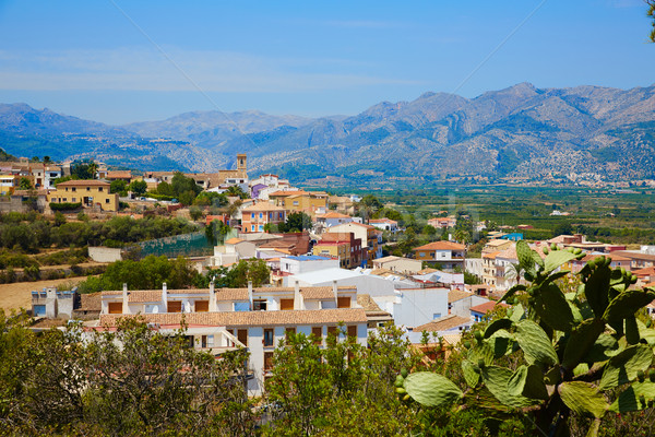 Benidoleig village in Alicante Spain Stock photo © lunamarina