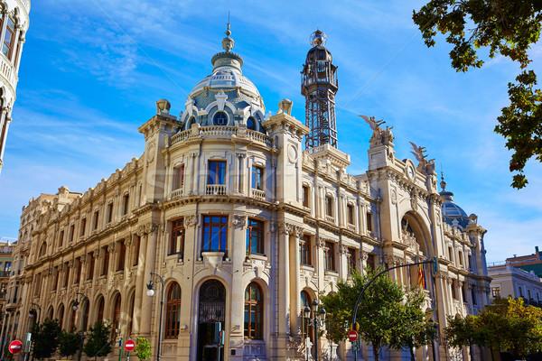 Valencia város épület tér Spanyolország utca Stock fotó © lunamarina