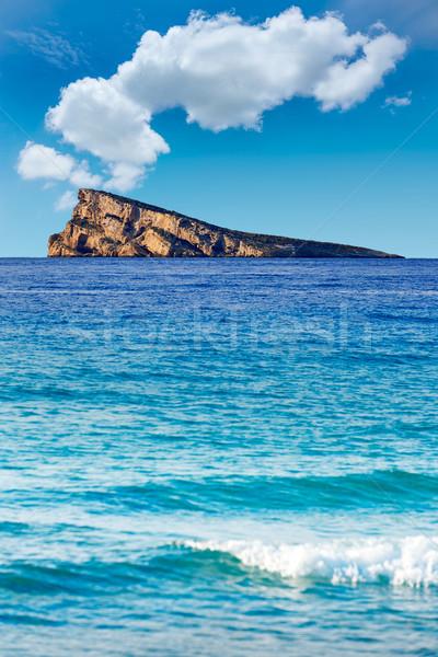 Ilha mediterrânico praia água nuvens verão Foto stock © lunamarina
