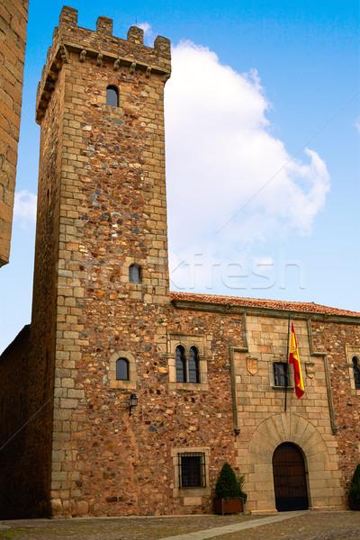 Ciguenas house tower Caceres Extremadura Stock photo © lunamarina