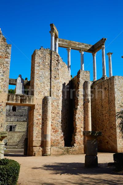 Római amfiteátrum Spanyolország LA épület város Stock fotó © lunamarina
