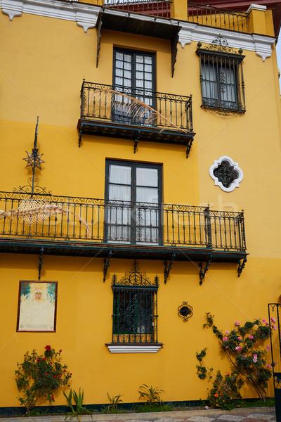 Stock photo: Seville Macarena barrio facades Sevilla Spain