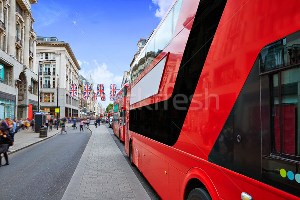 Londres bus oxford rue westminster bâtiment Photo stock © lunamarina